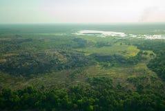 卡卡杜国家公园鸟瞰图  库存图片