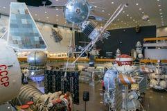 卡卢加州,俄罗斯, 2017年9月17日:宇宙航行学博物馆的内部在市卡卢加州 库存图片