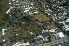 卡哈拉,威尔逊公园,基督教青年会和H-1高速公路天线  库存图片