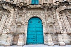 卡哈马卡大教堂门面 免版税库存图片