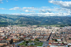 卡哈马卡,秘鲁都市风景 图库摄影