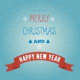 贺卡圣诞快乐和新年快乐 库存照片