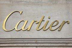 卡地亚首饰商标广告标志 免版税库存照片