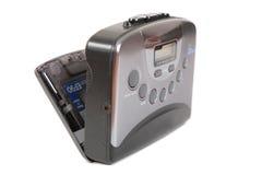 卡型盒式录音机坏的老开放球员葡萄酒 库存照片
