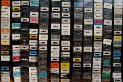 卡型盒式录音机帷幕 免版税库存图片