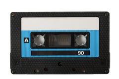 卡型盒式录音机查出的磁带 免版税图库摄影