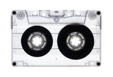 卡型盒式录音机查出的老透明 免版税图库摄影
