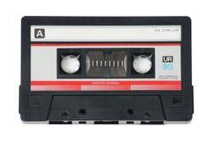 卡型盒式录音机磁带白色 库存照片