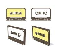 卡型盒式录音机磁带 免版税库存照片