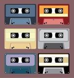 卡型盒式录音机磁带 库存照片