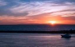 卡塔利娜海岛日落 免版税库存照片