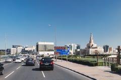 卡塔尔伊斯兰教的中心在多哈,卡塔尔 免版税库存图片