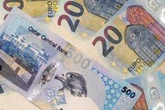 卡塔尔危机财政威胁 库存照片