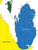 卡塔尔地图 向量例证