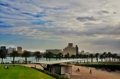 卡塔尔多哈檐口 库存图片