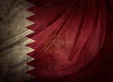 卡塔尔旗子 图库摄影