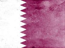 卡塔尔的旗子 库存照片