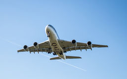 卡塔尔航空公司飞机 图库摄影