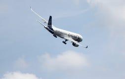 卡塔尔航空空中客车A350-941 XWB 库存照片