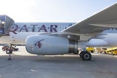 卡塔尔航空 免版税库存照片