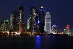 卡塔尔:多哈的商业中心 免版税图库摄影