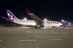 卡塔尔货机 免版税图库摄影