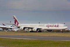 A340卡塔尔 库存图片