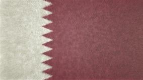 卡塔尔3D的原始的旗子图象 向量例证