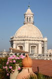 卡塔尼亚大教堂圆顶意大利 免版税库存图片