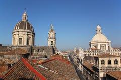 卡塔尼亚大教堂都市风景意大利 免版税库存图片