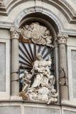 卡塔尼亚大教堂,细节 意大利西西里岛 图库摄影