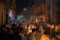 卡塔尼亚,意大利- 2016年西西里岛的2月05日圣徒阿佳莎 免版税库存照片