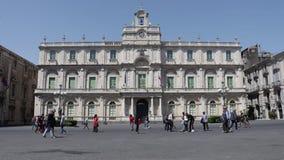 卡塔尼亚,通过Etnea —广场Università 影视素材