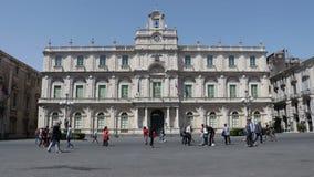 卡塔尼亚 西西里岛2017年5月—大学正方形 影视素材