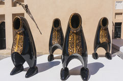 卡塔拉文化村庄是必需参观:有趣的雕塑 库存照片