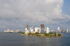 卡塔赫钠哥伦比亚地平线 图库摄影