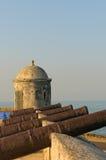 卡塔赫钠哥伦比亚城镇围住了 免版税图库摄影