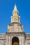 卡塔赫钠哥伦比亚钟楼 免版税库存图片