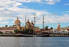 卡塔赫钠哥伦比亚de docks indias 免版税库存照片