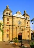 卡塔赫钠教会claver哥伦比亚pedro ・圣 免版税库存照片