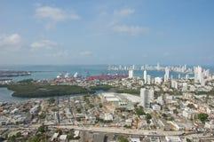 卡塔赫钠海湾在哥伦比亚 免版税图库摄影
