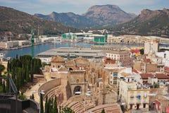 卡塔赫钠的历史中心 西班牙 免版税库存照片