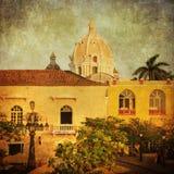 卡塔赫钠,曼谷,哥伦比亚的葡萄酒图象 免版税图库摄影
