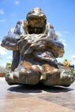 卡塔赫钠,西班牙- 2016年7月13日:纪念碑El Zulo,创造由雕刻家胜者奥乔亚 致力恐怖的受害者 免版税库存照片