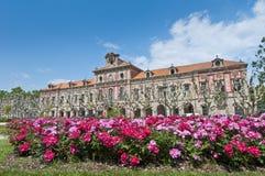 卡塔龙尼亚大厦的议会在巴塞罗那,西班牙 免版税库存照片