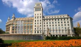 卡塔龙尼亚广场在巴塞罗那,西班牙 库存图片