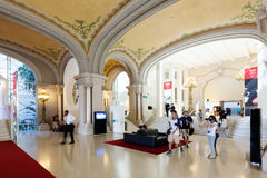 卡塔龙尼亚的全国美术馆主要大厅  免版税库存照片