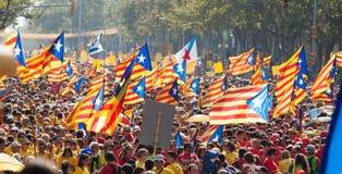 卡塔龙尼亚的国庆节 巴塞罗那 免版税库存照片