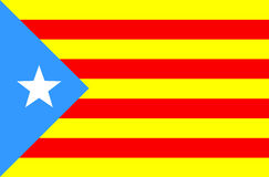 卡塔龙尼亚的标志 免版税库存图片