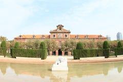 卡塔龙尼亚的议会在巴塞罗那 库存照片